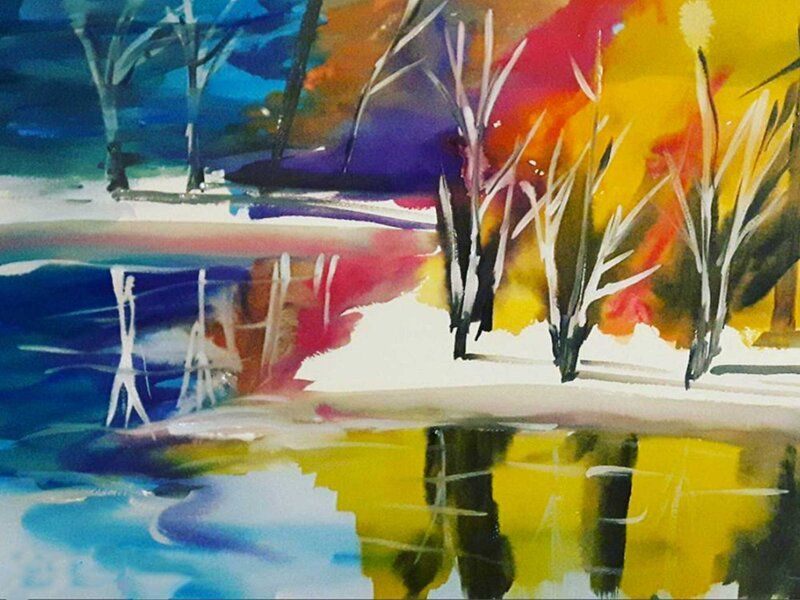 Everything is Wonderful in Winter - Watercolour Painting on Art Paper by Jessica Brown Art and Fashions.