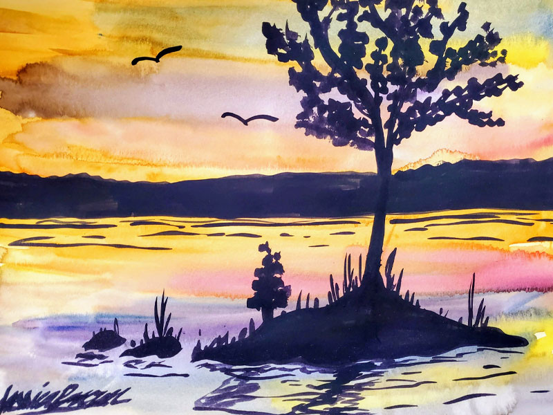 Is this a Dream - Watercolour Painting on Art Paper by Jessica Brown Art and Fashions.