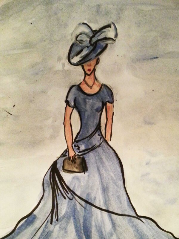 Never Lie to a Lady - Watercolour Painting on Art Paper by Jessica Brown Art and Fashions.