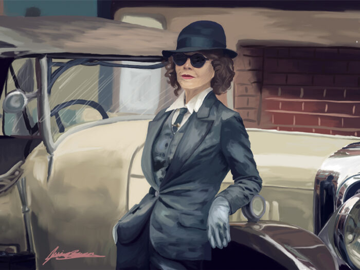 Limited Edition - Helen McCrory, Peaky Blinders a Digital Print by Jessica Brown Visual Arts.