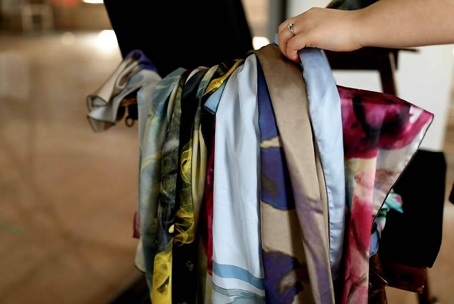 Printed Scarves - Available Artwork by Jessica Brown Visual Arts.
